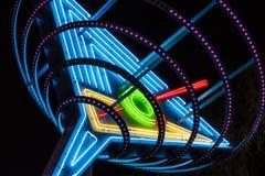 Las Vegas - Około Lipiec 2017: Neonowy Martini szkło znać jako Oskar ` s Martini na Fremont ulicie w W centrum Las Vegas Ja Fotografia Royalty Free