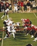 Las Vegas outlaws v Orlando Rage, futebol de XFL (2001) Imagens de Stock Royalty Free