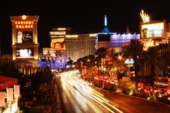 Las Vegas på natten Arkivfoto
