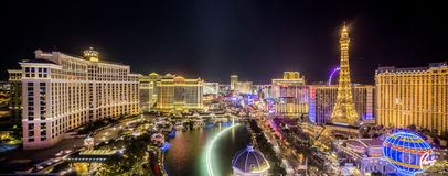 Las Vegas panorama Night View Stock Images