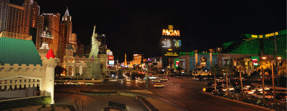 Las Vegas panoramic view- the entertaintment capital Stock Photography