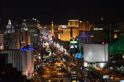 Las Vegas par nuit - vue aérienne Photos libres de droits