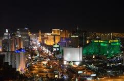 Las Vegas par nuit - vue aérienne Image stock