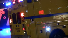 Las Vegas Paramedic Rescue Fire Truck at Scene (Editorial) stock video footage