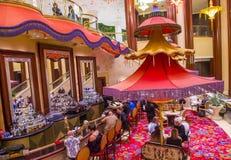 Las Vegas Parasol bar. LAS VEGAS - JAN 08 : The Parasol Down bar at the Wynn Hotel and casino in Las vegas on January 08 2017. The Wynn hotel has 2,716 rooms and royalty free stock photography
