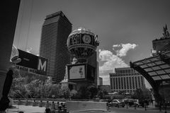 Las Vegas Paris and Cosmopolitan Hotels and Apartments, Black and White Royalty Free Stock Photography