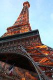 Las Vegas - Paris Hotel. Paris Hotel in Las Vegas, Nevada. Tourist destination in US. Eifel tower lighted at night Stock Photography