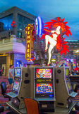 Las Vegas , Paris hotel. LAS VEGAS - JUNE 22 : The interior of Paris hotel and casino on June 22 2016 in Las Vegas, Nevada, The Paris hotel opened in 1999 and royalty free stock images