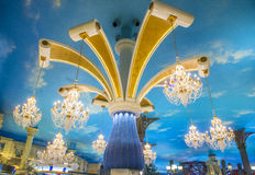Las Vegas , Paris hotel. LAS VEGAS - JUNE 22 : The interior of Paris hotel and casino on June 22 2016 in Las Vegas, Nevada, The Paris hotel opened in 1999 and stock photo