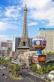 Las Vegas Paris hotell arkivbild