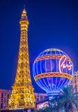 Las Vegas Paris hotell Royaltyfria Bilder