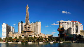 Las Vegas Paris Panorama Stock Photos