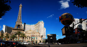 Las Vegas Paris Panorama Stock Photography