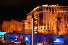 Las Vegas, Paryski hotel i kasyno, Las Vegas pasek, Las Vegas pasek, Paryski Las Vegas, punkt zwrotny, noc, światło, architektura Fotografia Stock