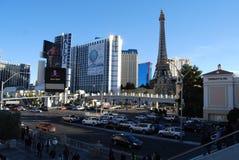 Las Vegas pasek, Paryski Las Vegas, Paryski hotel i kasyno, Paryski Las Vegas, Paryski Las Vegas, Paryski Las Vegas, obszar wielk Zdjęcia Royalty Free