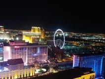 Las Vegas paska hotele i Wysokiego rolownika koło fotografia stock