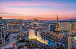 Las Vegas paska widok od wysokiego wzrosta balkonu Widok z lotu ptaka miasto Obraz Stock