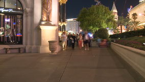 Las Vegas People at Night  - Time Lapse - Clip 6 of 12 stock video