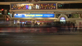 Las Vegas People at Night  - Time Lapse - Clip 2 of 12 stock video