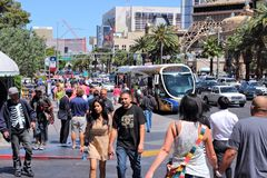 Las Vegas people Royalty Free Stock Images