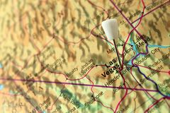 Las Vegas Pin map Royalty Free Stock Photography