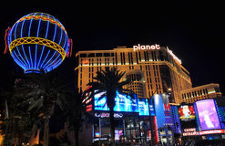 Las Vegas Planet Hollywood. Night pic of the Planet Hollywood Hotel and Shopping Center at Las Vegas Stock Image