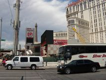 Las Vegas in 2009. Planet Hollywood hotel and Miracle Mall. Famous city Las Vegas in 2009. Skyscrapers of the Strip. Planet Hollywood hotel and casino in 2009 Royalty Free Stock Photo