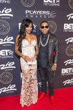 Las Vegas The Players Awards. LAS VEGAS - JULY 19 : Asiah Azante (L) and rapper Kid Ink attends The Players Awards at the Rio Hotel & Casino on July 19, 2015 in Royalty Free Stock Images