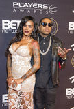 Las Vegas The Players Awards. LAS VEGAS - JULY 19 : Asiah Azante (L) and rapper Kid Ink attends The Players Awards at the Rio Hotel & Casino on July 19, 2015 in Stock Images