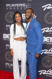 Las Vegas The Players Awards. LAS VEGAS - JULY 19 : Jada Crawley (L) and NBA player Chris Paul of the Los Angeles Clippers attend The Players Awards at the Rio Royalty Free Stock Images