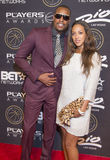 Las Vegas The Players Awards. LAS VEGAS - JULY 19 : NBA player Paul Pierce (L) of the Los Angeles Clippers and Julie Pierce attend The Players Awards at the Rio Stock Image