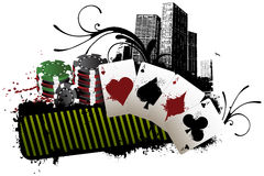 Las Vegas poker banner Royalty Free Stock Images