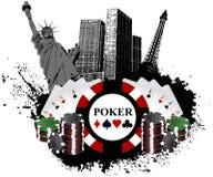 Las Vegas Poker. Strip gamble welcome signs Las Vegas Poker stock illustration