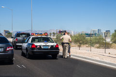 Las Vegas Police. Performing traffic stop Stock Photo
