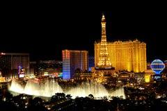 Las Vegas por noche Fotos de archivo libres de regalías