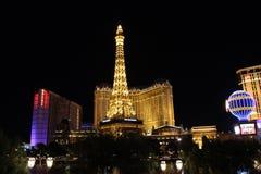 Las Vegas por noche Imágenes de archivo libres de regalías