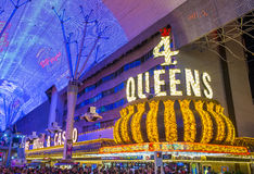Las Vegas, 4 queens Hotelowego i Kasynowego Fotografia Royalty Free