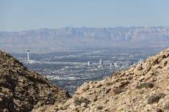 Las Vegas Redactiemountain view Stock Fotografie