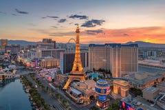 Las Vegas remsa på soluppgången royaltyfri foto