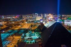 Las Vegas remsa vid natt Arkivbild