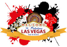 Las vegas ribbon Stock Photography