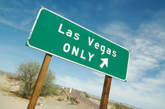 Las Vegas Only Road Sign stock images
