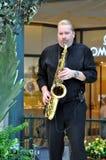 Las Vegas - Saxofonist at Bellagio hotel Royalty Free Stock Photos
