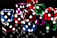Las Vegas scheißt Spiel-Würfel Stockfoto