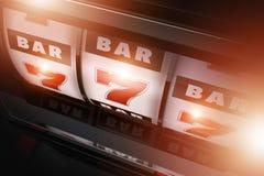 Las Vegas-Schlitz-Drehbeschleunigungs-Spiel Lizenzfreies Stockfoto