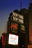 LAS VEGAS - SEP 4: New York-New York hotel casino creating the i Royalty Free Stock Photography