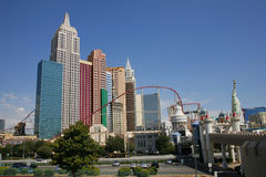 LAS VEGAS - SEP 4: New York-New York hotel casino creating the i Royalty Free Stock Images