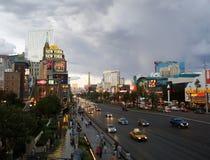 LAS VEGAS - SEPTEMBER 25: Traffic travels along the Las Vegas st Royalty Free Stock Image