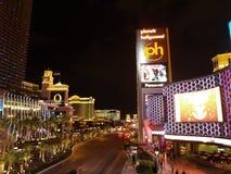 LAS VEGAS - SEPTEMBER 25: Traffic travels along the Las Vegas st Royalty Free Stock Images
