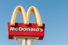 Las Vegas - 10 septembre 2010 : Logo de McDonald le 10 septembre dedans Photo stock